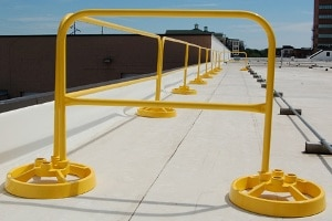 Freestanding Safety Rails System Does Not Penetrate the Substrate