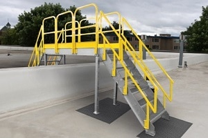 Stair Platforms and Crossovers Are Freestanding and Quick Install