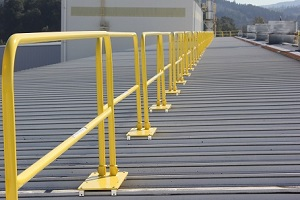 Attached Roof Safety Rail System