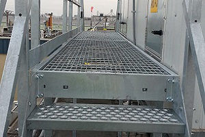 Platform Staris with Galvanized Finish