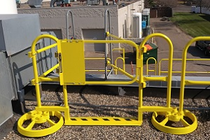 Roof Safety Rail Self-Closing Safety Gate