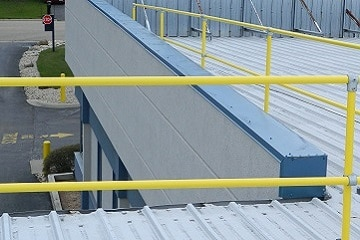Roof Safety Rail Precise Fit Rail Sections