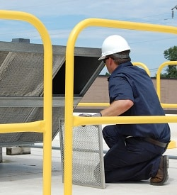 Roof Guardrail Protects Workers