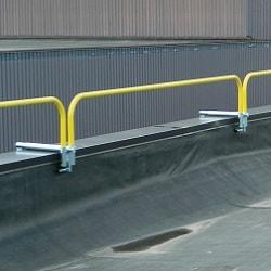 Guardrail Clamps to Parapet
