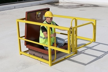 Roof Hatch Safety Rails System