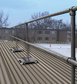 Metal Roof Railing System for Exposed Fasteners