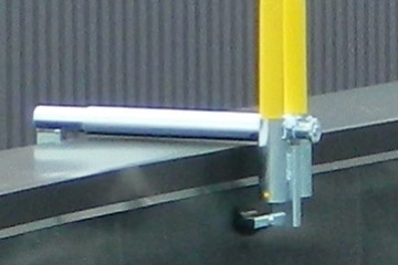 Parapet Clamp Guardrail System is Adjustable