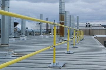 Standing Seam Roof Guardrail
