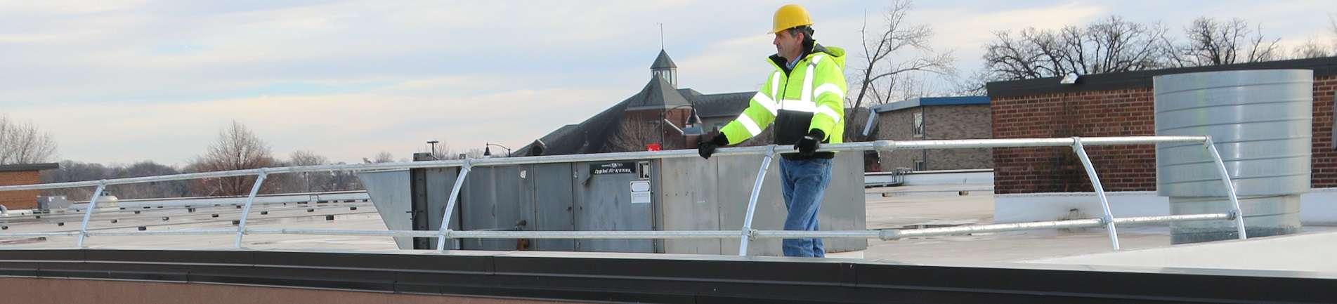 Parapet Guardrail System