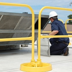 Roof Safety Rail System Protects Workers During Maintenance & Repair