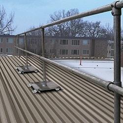 Exposed Fastener Roof Railing