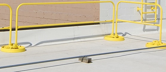 Safety Rail System with 1-Piece Rail Sections
